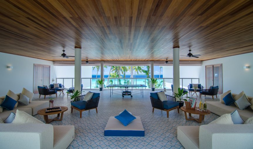 Amilla Fushi Luxury Resort and Residences - Baa Atoll, Maldives - Oceanfront Beach Residence Recreation Room