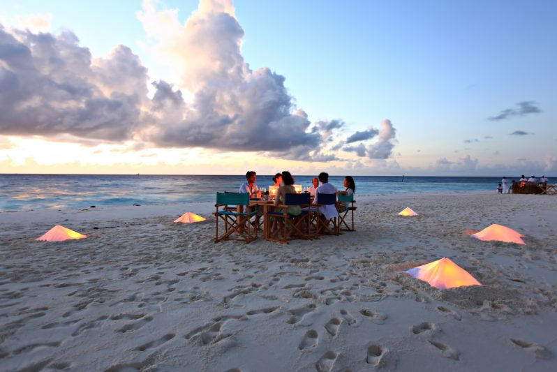 Six Senses Laamu Luxury Resort - Laamu Atoll, Maldives - Private Sandbank Dining