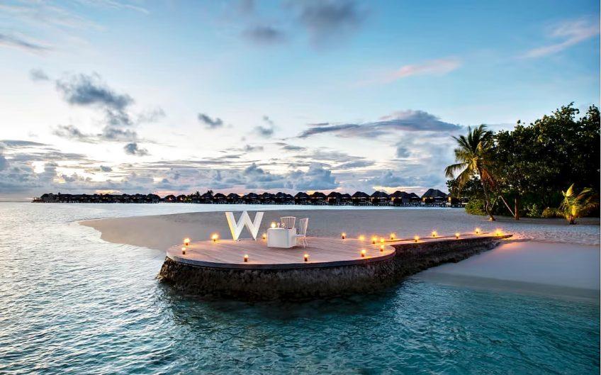 W Maldives Luxury Resort - Fesdu Island, Maldives - Resort Sunset View