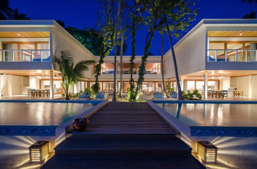 Amilla Fushi Luxury Resort and Residences - Baa Atoll, Maldives - Oceanfront Beach Residence Night