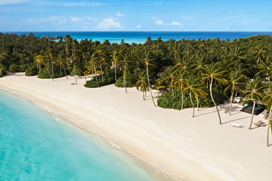 One&Only Reethi Rah Luxury Resort - North Male Atoll, Maldives - Private Island Beach Aerial