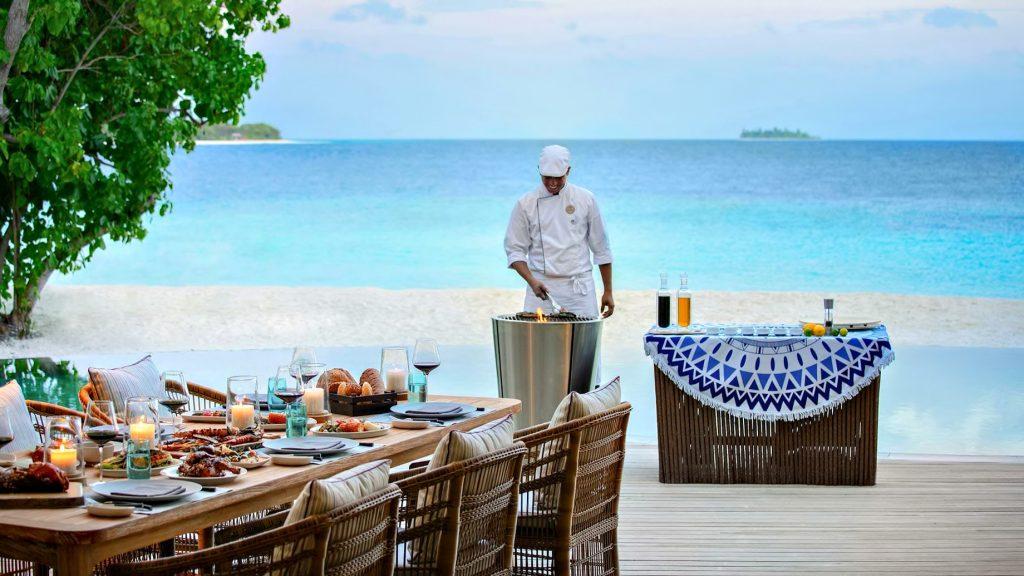 The Nautilus Maldives Luxury Resort - Thiladhoo Island, Maldives - Oceanfront Mansion Beachfront Dining