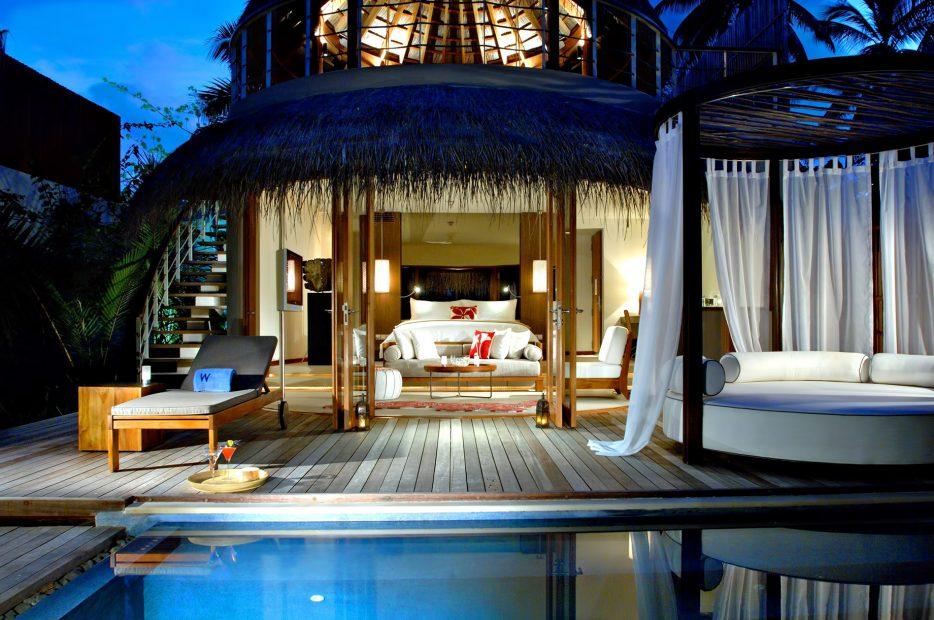 W Maldives Luxury Resort - Fesdu Island, Maldives - Oceanfront House Dusk