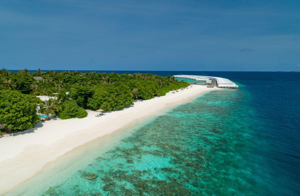 Amilla Fushi Luxury Resort and Residences - Baa Atoll, Maldives - White Sand Beach Aerial