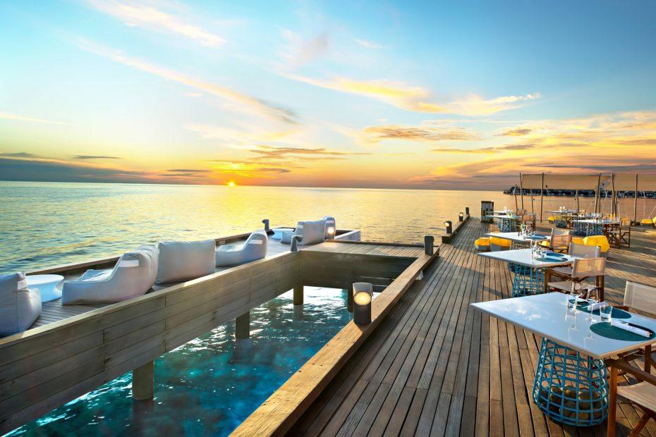 W Maldives Luxury Resort - Fesdu Island, Maldives - FISH Deck Sunset