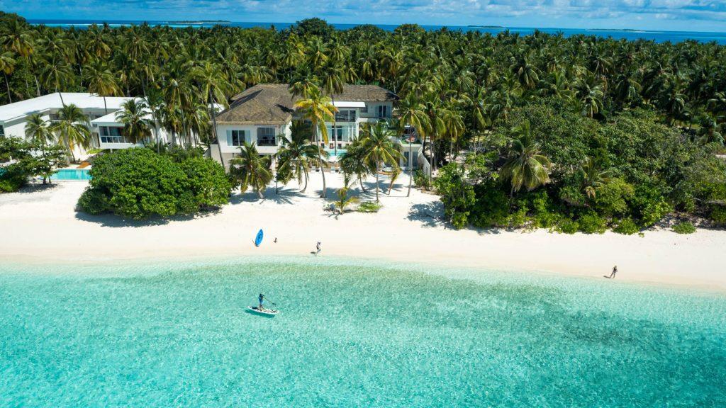 Amilla Fushi Luxury Resort and Residences - Baa Atoll, Maldives - Oceanfront Recidences White Sand Beach Aerial