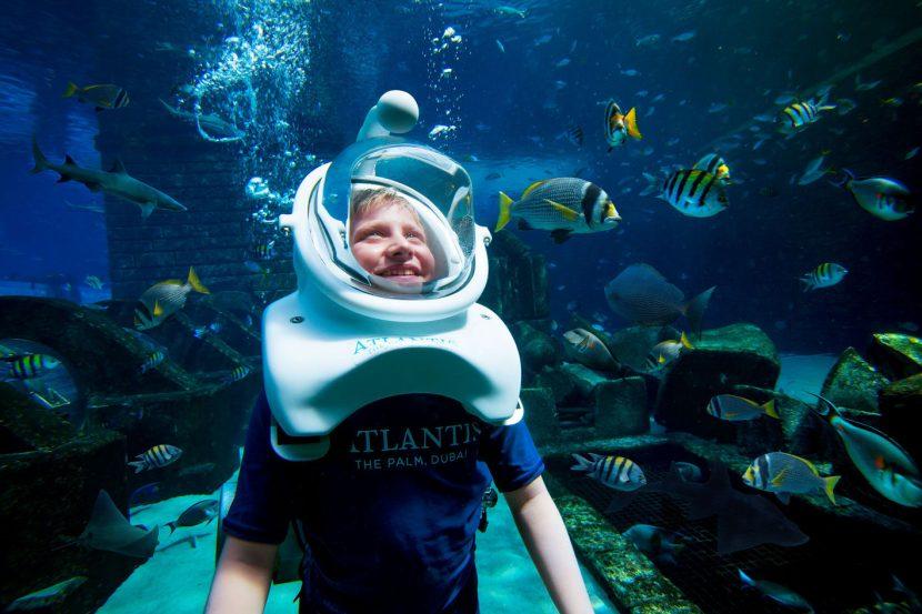 Atlantis The Palm Luxury Resort - Crescent Rd, Dubai, UAE - Shark Safari Aquatrek Xtreme