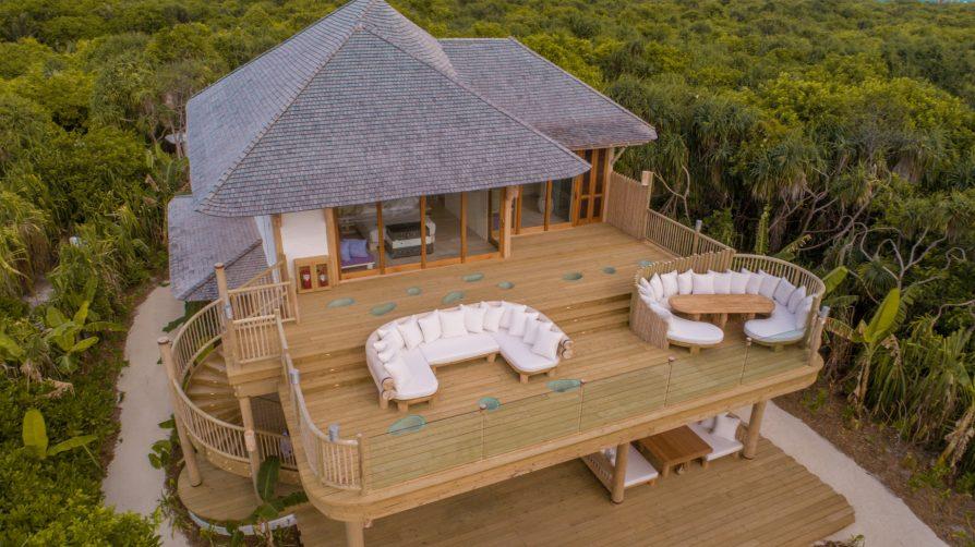 Soneva Jani Luxury Resort - Noonu Atoll, Medhufaru, Maldives - 2 Bedroom Crusoe Residence Island Villa Upper Deck Aerial