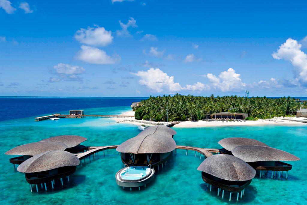 The St. Regis Maldives Vommuli Luxury Resort - Dhaalu Atoll, Maldives - Aerial Iridium Spa