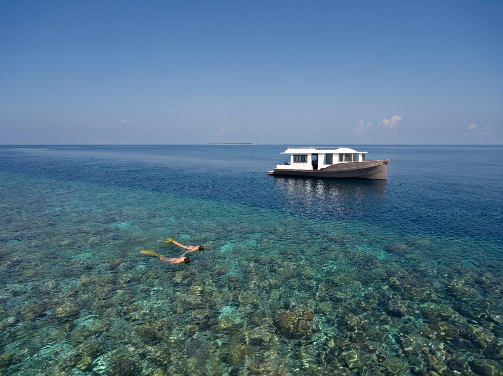 Cheval Blanc Randheli Luxury Resort - Noonu Atoll, Maldives - Ocean Reef Snorkeling Aerial