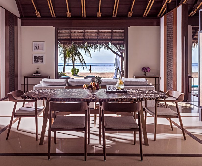 One&Only Reethi Rah Luxury Resort - North Male Atoll, Maldives - Private Island Beachfront Villa Dining Room