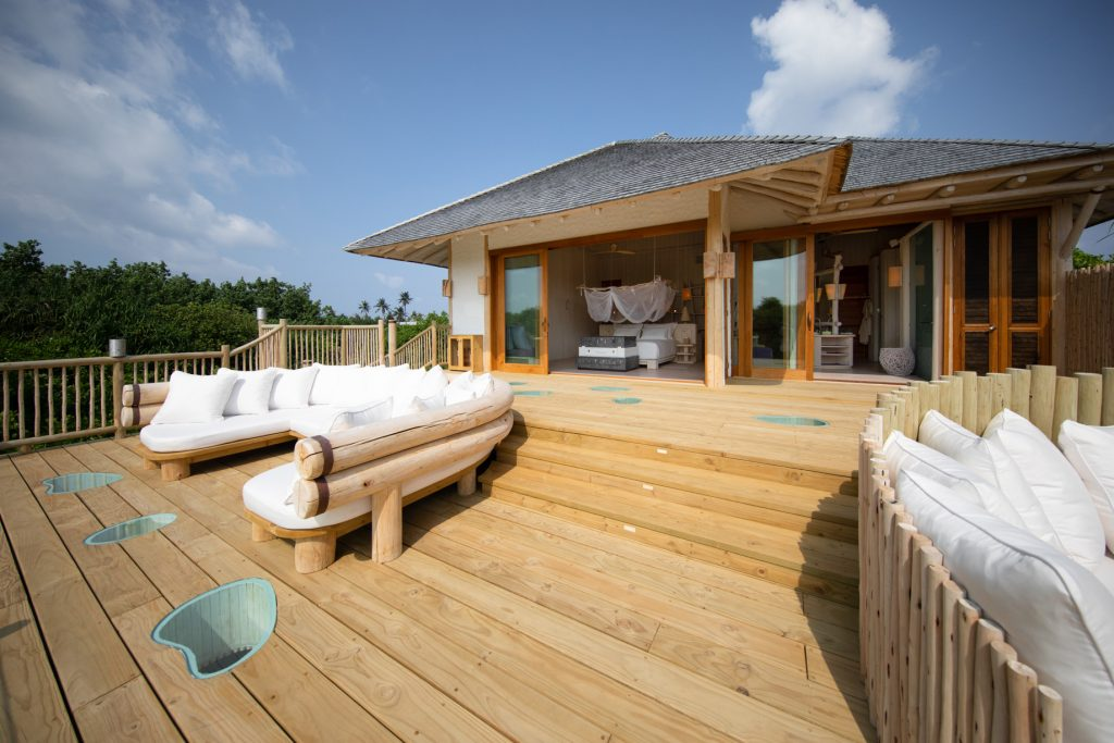 Soneva Jani Luxury Resort - Noonu Atoll, Medhufaru, Maldives - 2 Bedroom Crusoe Residence Island Villa Upper Deck Bedroom View