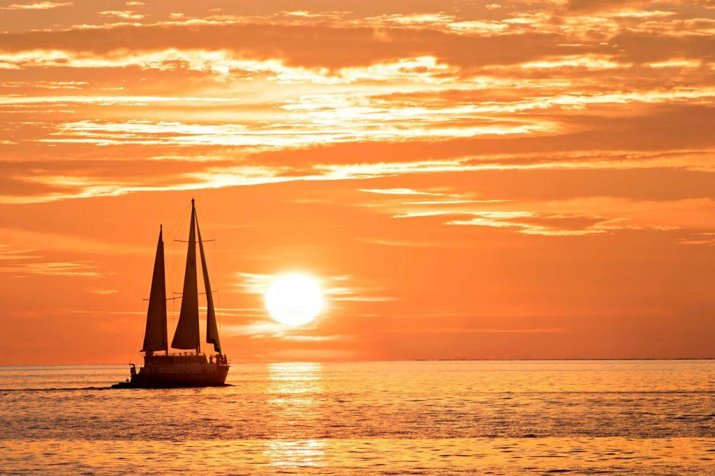 W Maldives Luxury Resort - Fesdu Island, Maldives - Sailboat Sunset