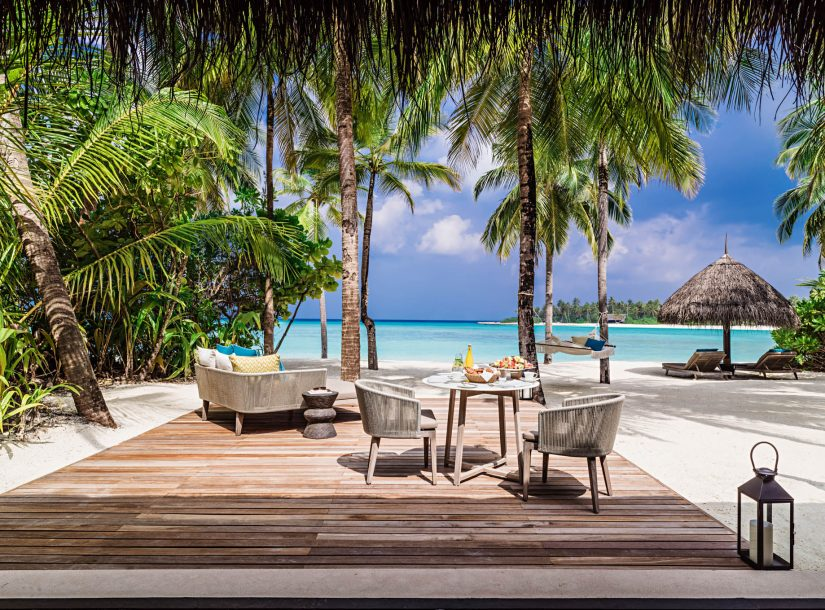 One&Only Reethi Rah Luxury Resort - North Male Atoll, Maldives - Private Island Beachfront Deck