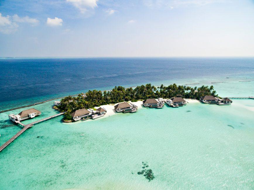 Cheval Blanc Randheli Luxury Resort - Noonu Atoll, Maldives - Overwater Villas Aerial