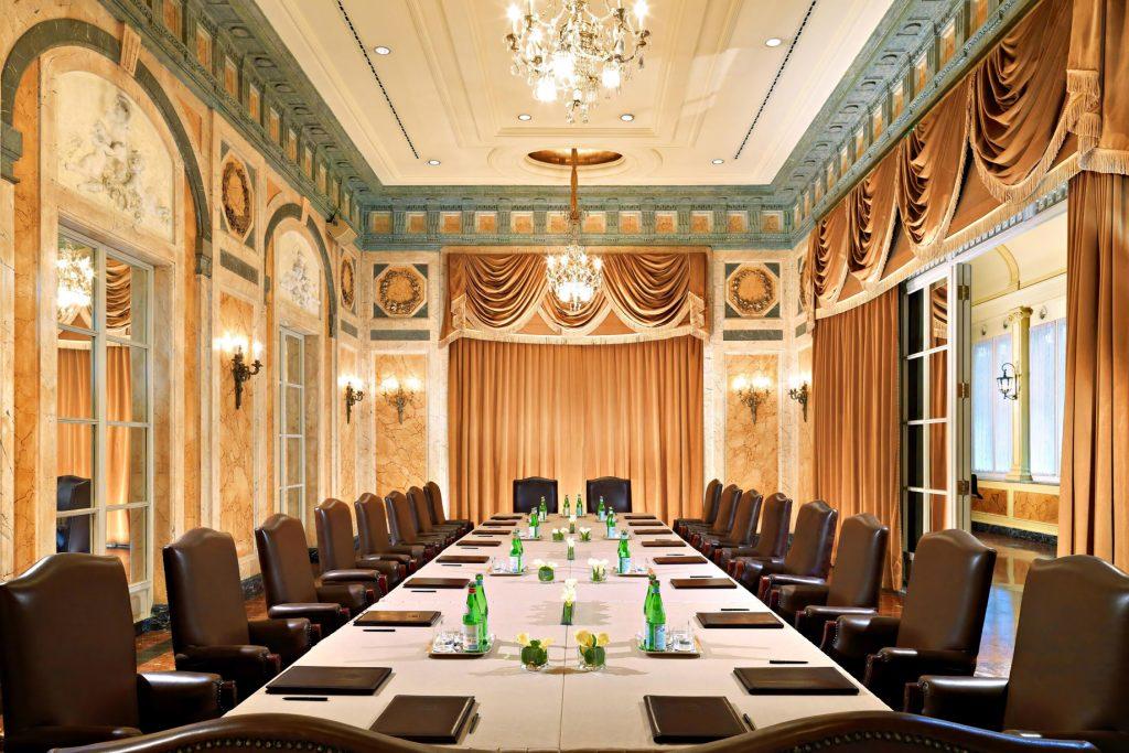 The St. Regis Rome Luxury Hotel - Rome, Italy - Danieli Boardroom