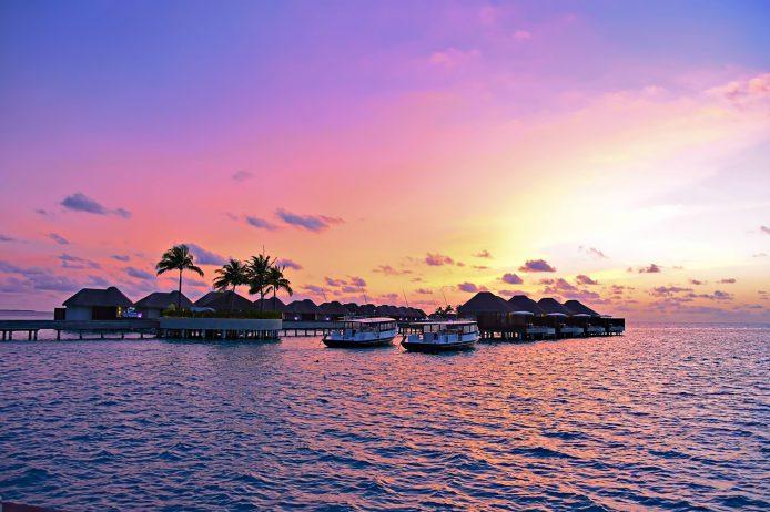 W Maldives Luxury Resort - Fesdu Island, Maldives - Resort Sunset