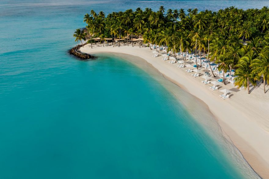 One&Only Reethi Rah Luxury Resort - North Male Atoll, Maldives - Beach Club Aerial