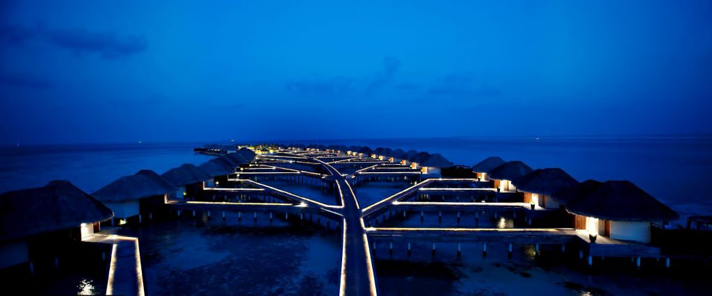 W Maldives Luxury Resort - Fesdu Island, Maldives - Overwater Bungalows Night