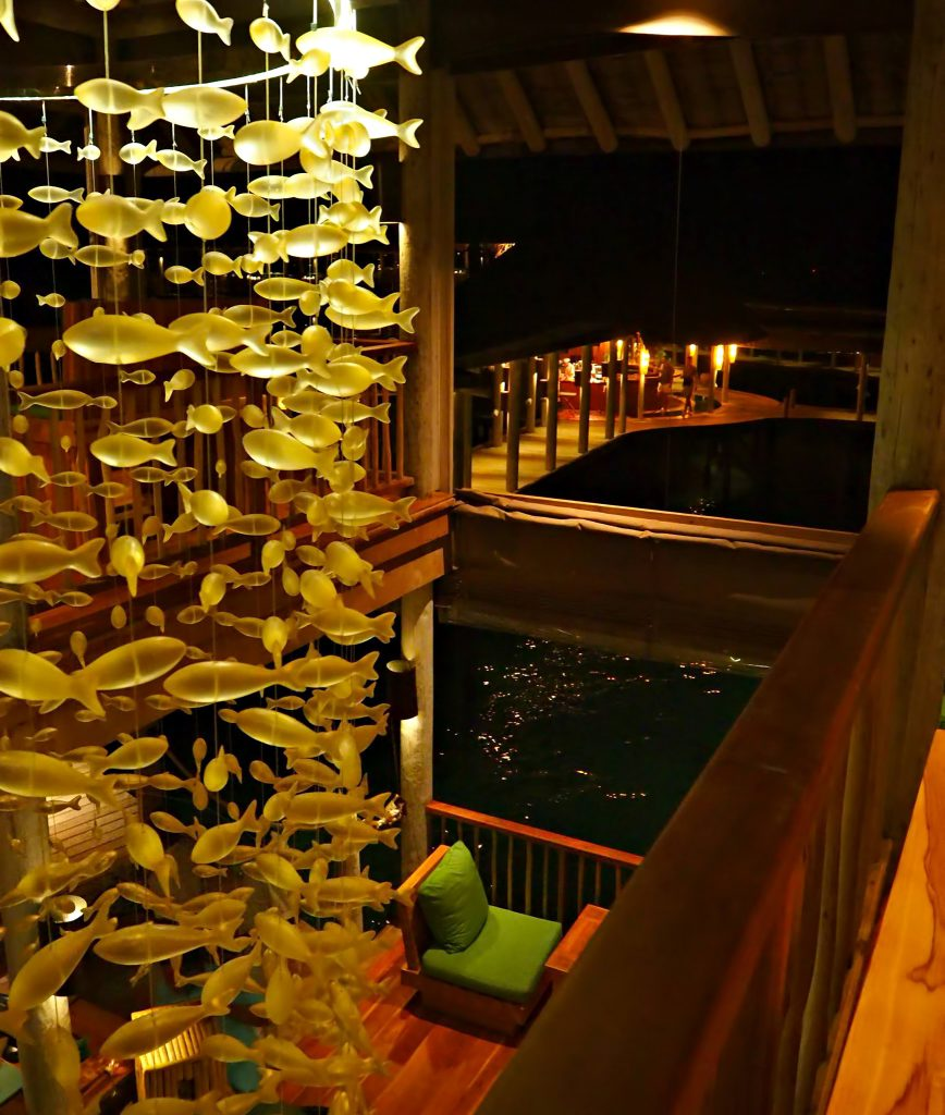 Six Senses Laamu Luxury Resort - Laamu Atoll, Maldives - Overwater Chill Bar Night Vibe