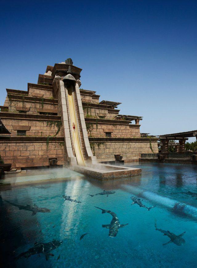 Atlantis The Palm Luxury Resort - Crescent Rd, Dubai, UAE - Tower of Neptune Water Slide