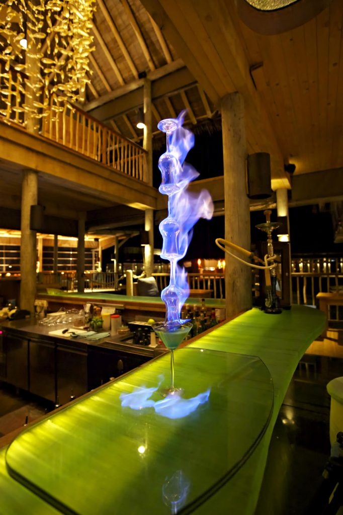 Six Senses Laamu Luxury Resort - Laamu Atoll, Maldives - Chill Bar Night Vibe