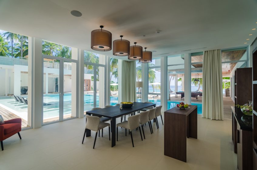 Amilla Fushi Luxury Resort and Residences - Baa Atoll, Maldives - Amilla Beachfront Estate Dining Area