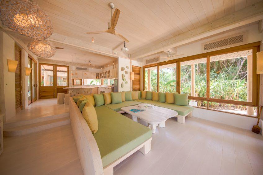 Soneva Jani Luxury Resort - Noonu Atoll, Medhufaru, Maldives - 2 Bedroom Crusoe Residence Island Villa Living Room