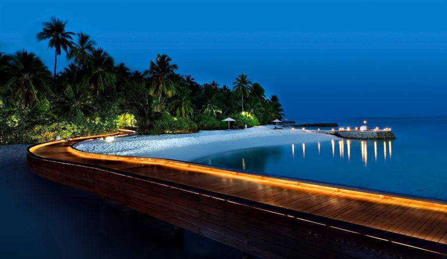W Maldives Luxury Resort - Fesdu Island, Maldives - Resort Boardwalk Night