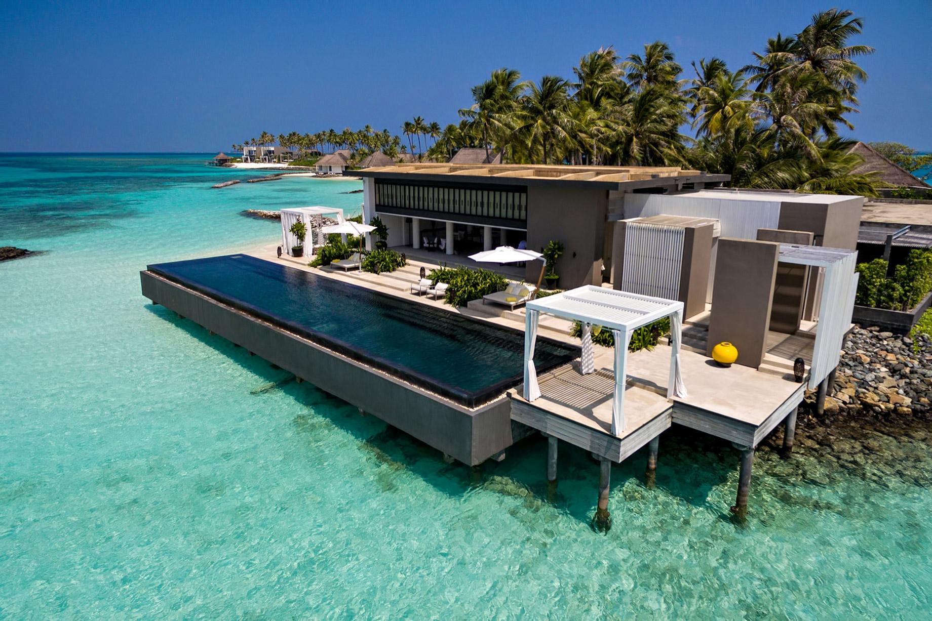 Cheval Blanc Randheli Luxury Resort – Noonu Atoll, Maldives – Overwater Villa Aerial