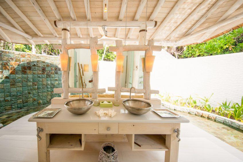 Soneva Jani Luxury Resort - Noonu Atoll, Medhufaru, Maldives - 2 Bedroom Crusoe Residence Island Villa Outdoor Bathroom