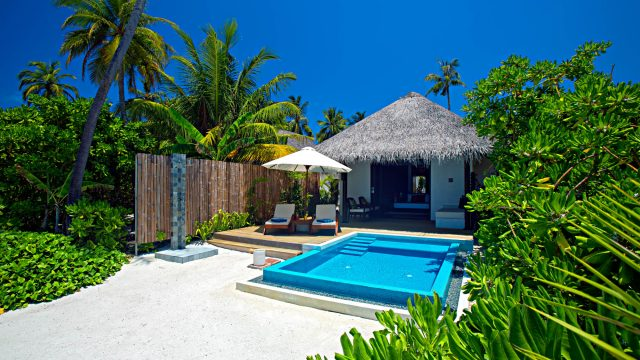Velassaru Maldives Luxury Resort - South Male Atoll, Maldives - Beachfront Pool Chairs