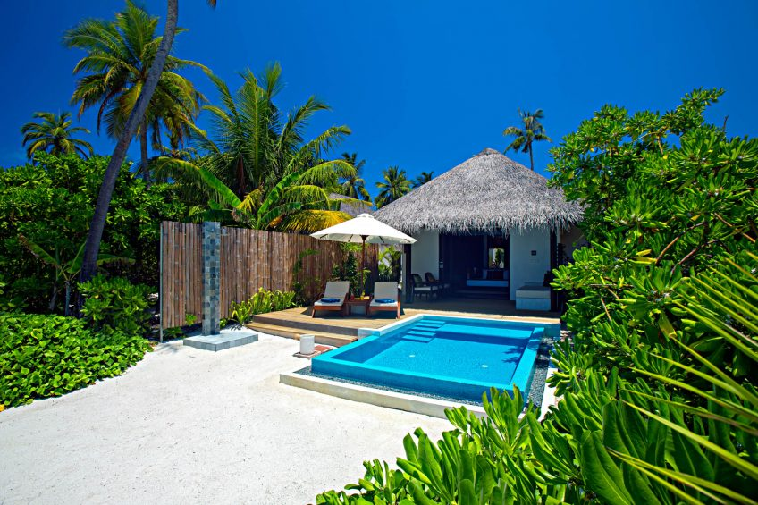Velassaru Maldives Luxury Resort - South Male Atoll, Maldives - Beachfront Pool Chairs