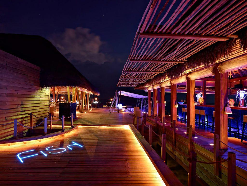 W Maldives Luxury Resort - Fesdu Island, Maldives - FISH Restaurant Night