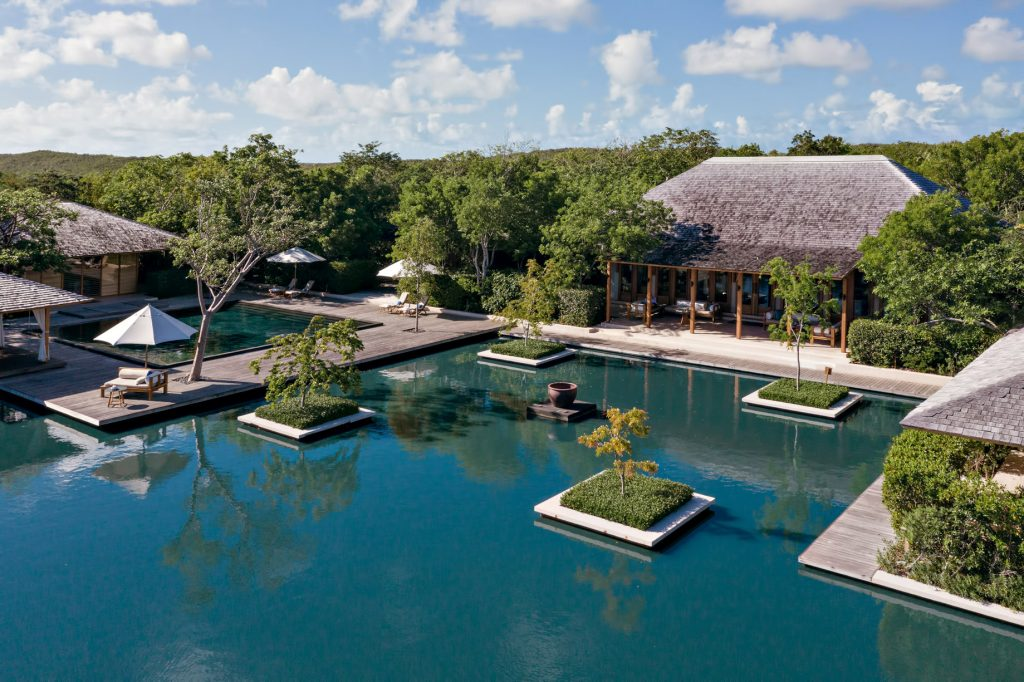 Amanyara Luxury Resort - Providenciales, Turks and Caicos Islands - Relecting Pond Aerial View
