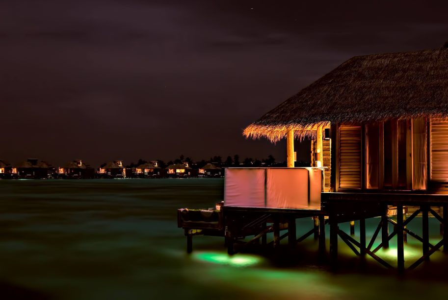 Six Senses Laamu Luxury Resort - Laamu Atoll, Maldives - Ocean Villa Night View