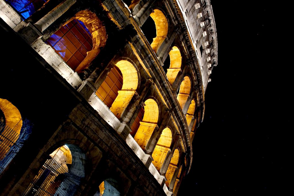 The St. Regis Rome Luxury Hotel - Rome, Italy - Nearby Attraction Colosseum by Night