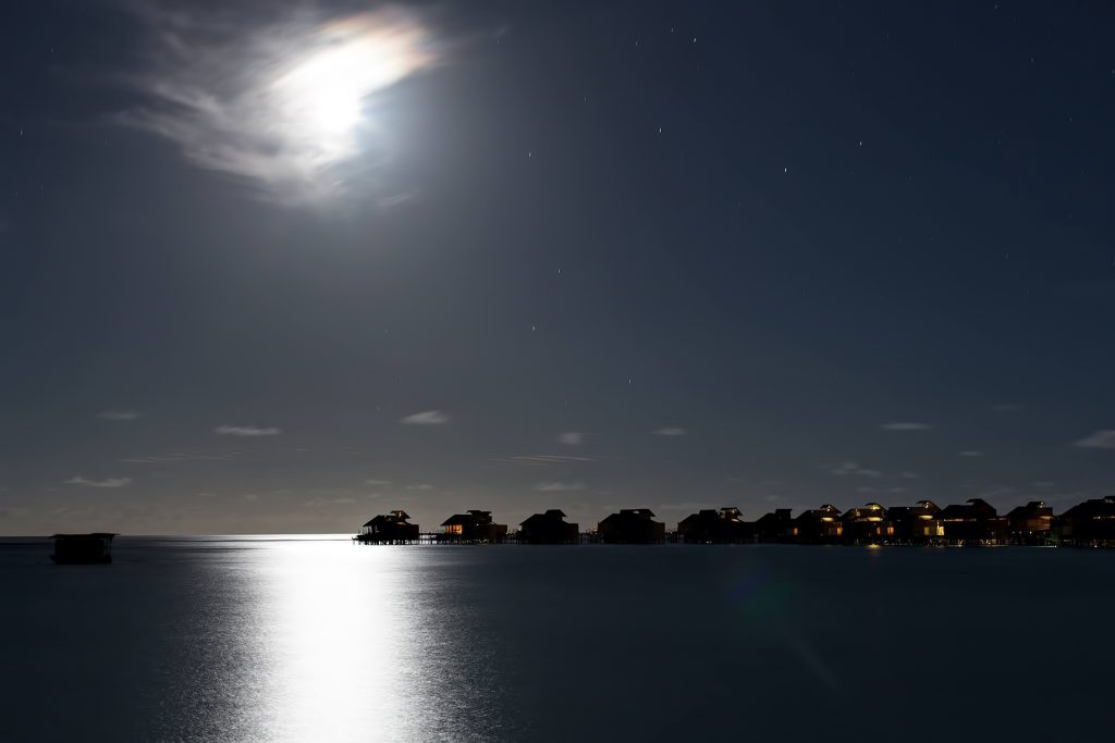Six Senses Laamu Luxury Resort - Laamu Atoll, Maldives - Resort Overwater Villa Moonlight View