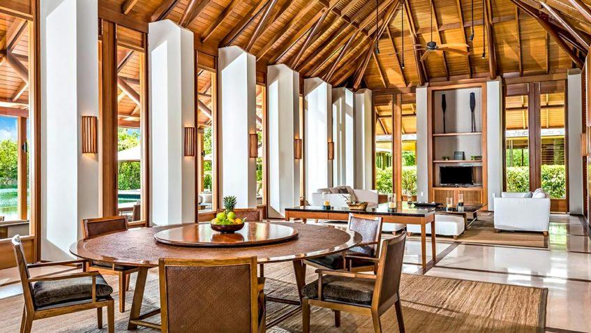 Amanyara Luxury Resort - Providenciales, Turks and Caicos Islands - 3 Bedroom Tranquility Villa Dining Living Room