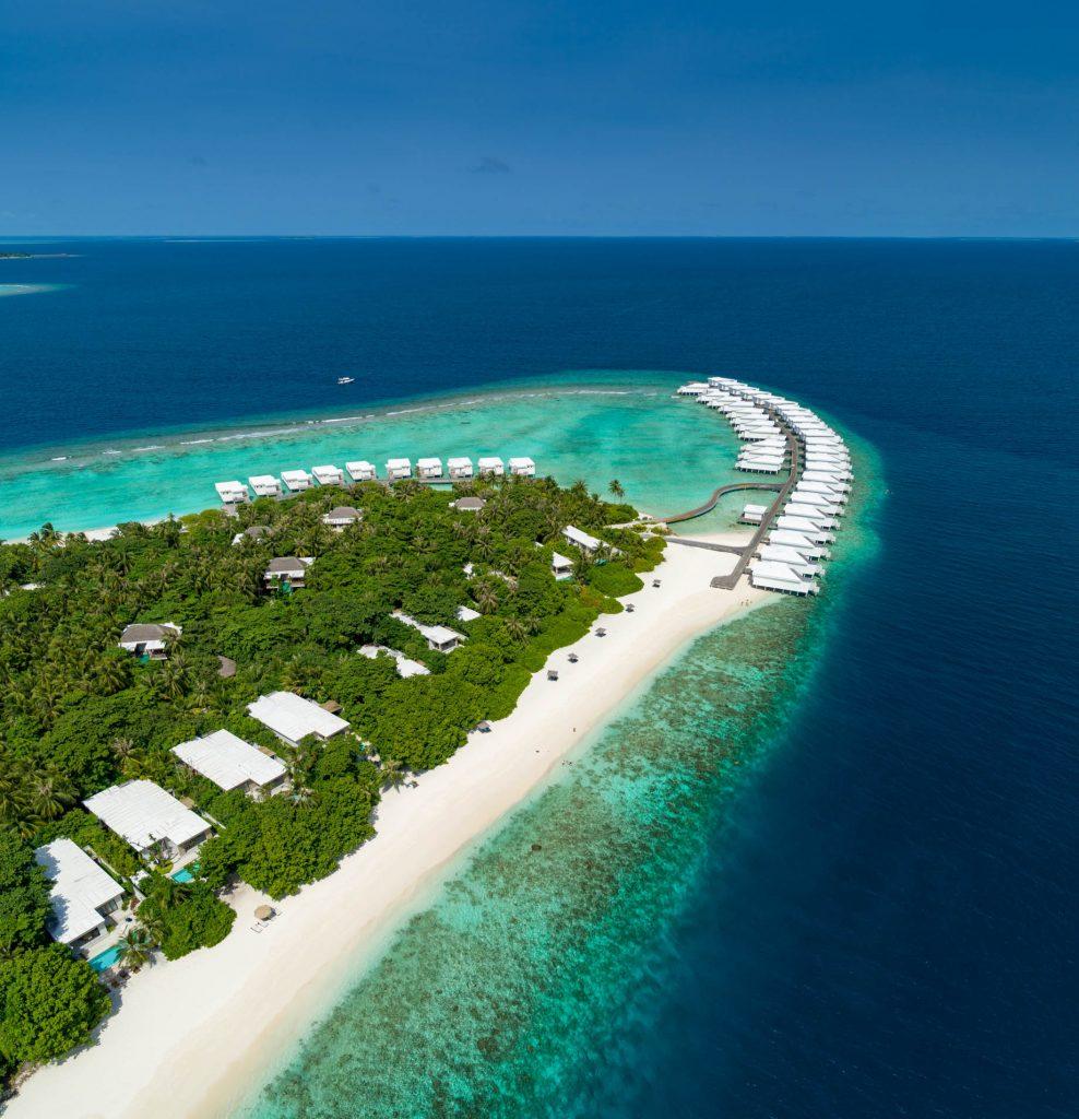 Amilla Fushi Luxury Resort and Residences - Baa Atoll, Maldives - Beach Resicences and Overwater Villas Aerial