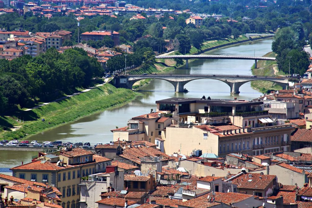 The St. Regis Florence Luxury Hotel - Florence, Italy - Arno River Aerial