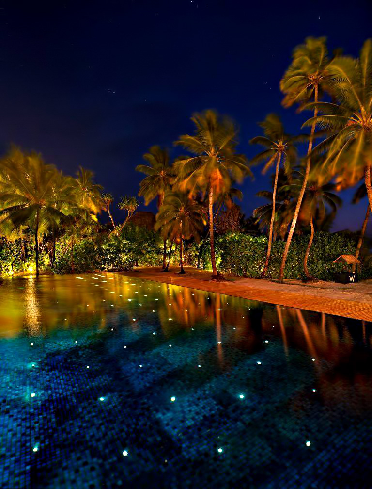 W Maldives Luxury Resort - Fesdu Island, Maldives - Resort Pool Night
