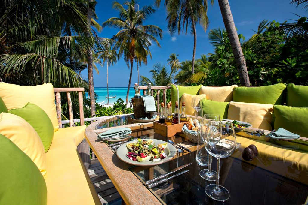 Gili Lankanfushi Luxury Resort - North Male Atoll, Maldives - Outdoor Lounge Wine and Dine Experience