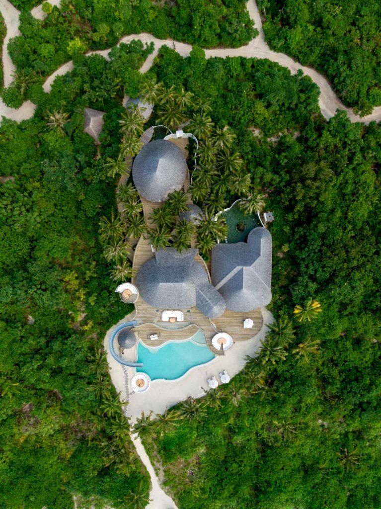 Soneva Jani Luxury Resort - Noonu Atoll, Medhufaru, Maldives - 3 Bedroom Island Reserve Villa Aerial
