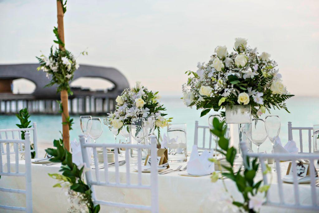 The St. Regis Maldives Vommuli Luxury Resort - Dhaalu Atoll, Maldives - Beach Wedding Table
