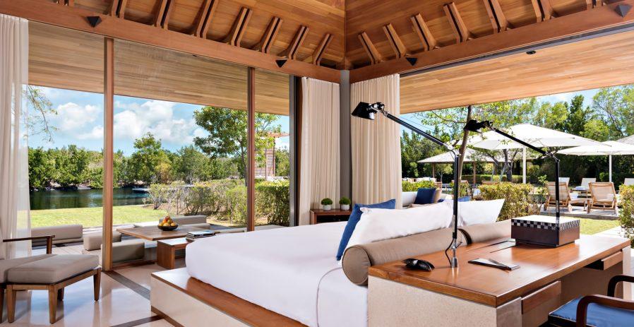 Amanyara Luxury Resort - Providenciales, Turks and Caicos Islands - 3 Bedroom Tranquility Villa Bedroom Water View