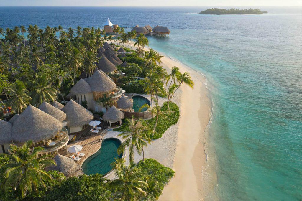 The Nautilus Maldives Luxury Resort - Thiladhoo Island, Maldives - Beachfront Residence Aerial