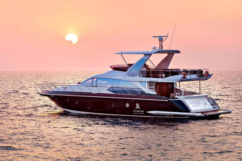 The St. Regis Maldives Vommuli Luxury Resort - Dhaalu Atoll, Maldives - Norma Luxury Yacht Sunset