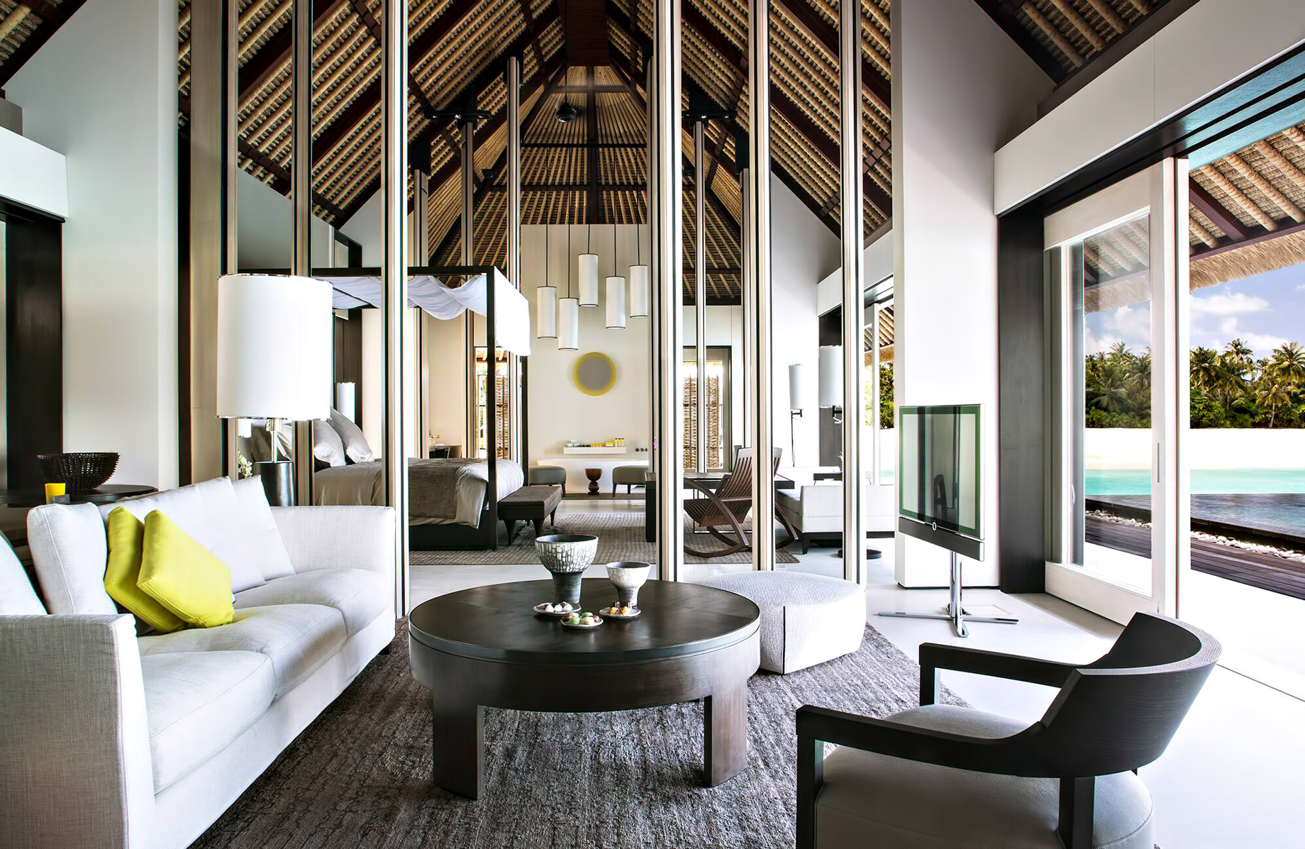 Cheval Blanc Randheli Luxury Resort – Noonu Atoll, Maldives – Overwater Villa Living Room