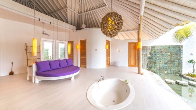 Soneva Jani Luxury Resort - Noonu Atoll, Medhufaru, Maldives - 3 Bedroom Island Reserve Villa Outdoor Soaker Tub